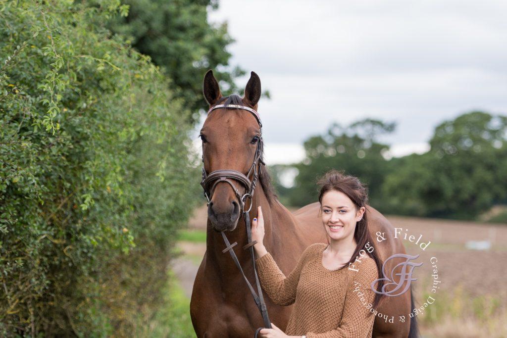 Becka James an Equine Portrait session